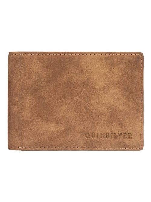 QUIKSILVER MENS WALLET.SLIM VINTAGE FAUX LEATHER BROWN MONEY CARD PURSE 9S 64 T